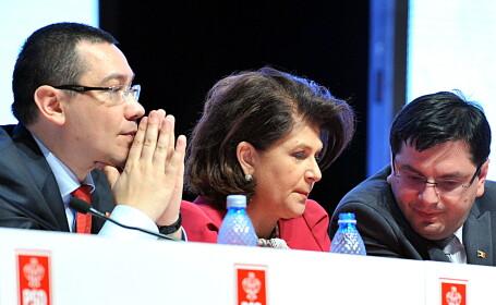 Victor Ponta, Rovana Plumb, Nicolae Banicioiu - AGERPRES