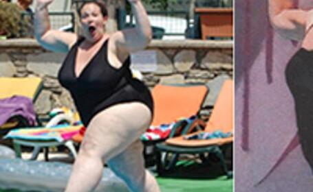 A refacut fotografia la distanta de un an, dupa ce a dat jos jumatate din greutatea corpului. Cum arata acum femeia. FOTO