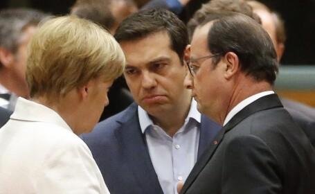 Merkel, Hollande, Tsipras