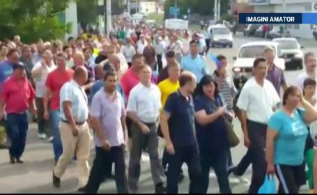 Protest inedit la Drobeta Turnu Severin: angajatii Regiei de Apa au refuzat sa iasa din tura si au lucrat timp de 36 de ore