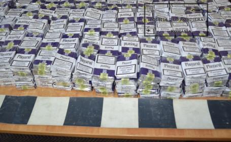 Traficantii moldoveni au ascuns 8.000 de tigari in cel mai neasteptat loc. Ce i-a determinat pe politisti sa ii controleze