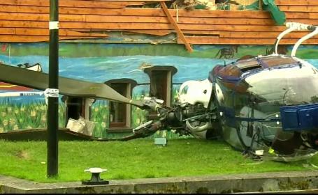 Un elicopter s-a prabusit in Irlanda, dupa ce a acrosat cu elicea un zid. Ce s-a intamplat cu cei doi barbati aflati la bord