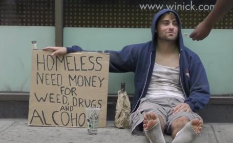 Cui ai da bani pe strada: unui consumator de droguri sau unui tata sarac? Rezultatele dramatice ale unui experiment social