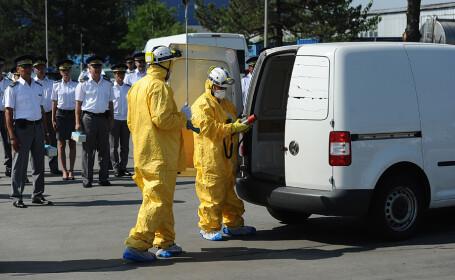 Exercitiu demonstrativ prilejuit de inaugurarea de catre Ambasada SUA si Ministerul Afacerilor Interne a unui sistem de detectare a materialelor nucleare si radioactive, amplasat la Punctul de Trecere a Frontierei de la Aeroportul International Henri Coan
