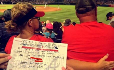Cum a aflat un barbat ca sotia are un amant de la doua straine. Imaginile au fost vazute de peste 17.000 de oameni pe Twitter