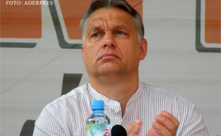 Premierul Ungariei, Viktor Orban, participa la dezbaterea cu tema 'Din povestiri, istorie', din ultima zi a Universitatii de vara de la Baile Tusnad.