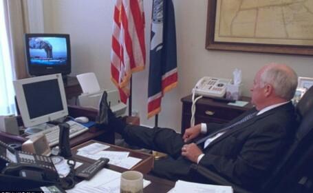 Fotografii nemaivazute de la Casa Alba, in ziua atacurilor de la 11 septembrie. Cum reactionau George Bush si Dick Cheney