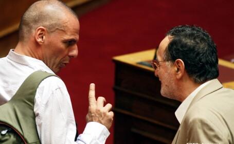 Yanis Varoufakis, Panagiotis Lafazanis - AGERPRES