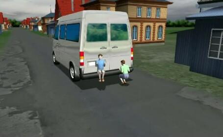 animatie accident copii