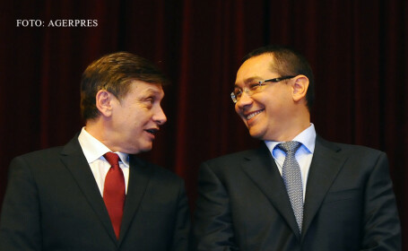 Crin ANtonescu si Victor Ponta in 2013