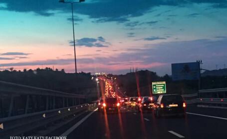 Accident in lant pe Autostrada Soarelui: o persoana a fost grav ranita. Traficul s-a reluat spre Capitala pe 2 benzi. FOTO