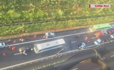 Accidentul de pe Autostrada Soarelui a declansat planul ROSU. Cum puteau autoritatile sa evite aglomeratia
