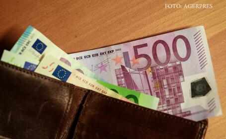 portofel cu euro
