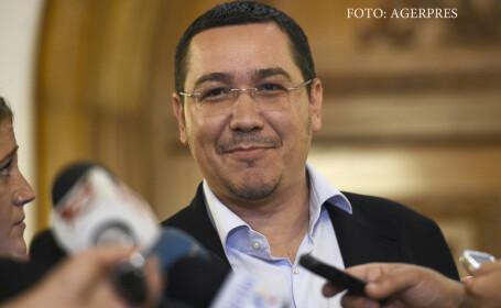 Victor Ponta sustine o declaratie de presa inaintea inceperii sedintei Comitetului Executiv National al Partidului Social Democrat (PSD), la Palatul Parlamentului.