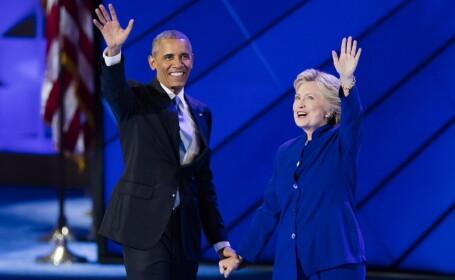 Barack Obama ii ia apararea lui Hillary Clinton: \