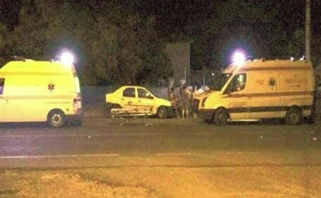 Doi barbati au fost loviti de tren la intrarea in Timisoara. Niciunul dintre ei nu era constient cand a ajuns ambulanta