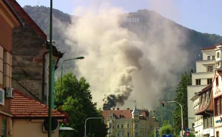 Incendiu in Centrul Brasovului