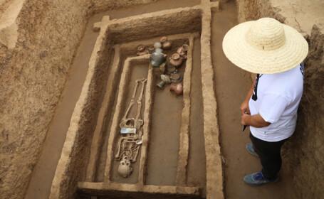 Un cimitir in care au fost ingropati \