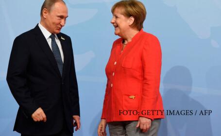 Vladimir Putin primit de Angela Merkel la summit-ul G20