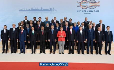 Fotografia de grup a Summitului G20, Hamburg