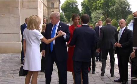 Donald Trump a ajuns la Paris. Presedintele SUA va participa alaturi de Emmanuel Macron la parada de Ziua Frantei