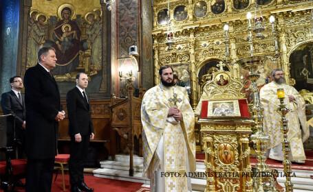 Klaus Iohannis, Participare la Liturghia cu prilejul sărbătorii Sfinților Trei Ierarhi, la invitația Patriarhului Bisericii Ortodoxe Române