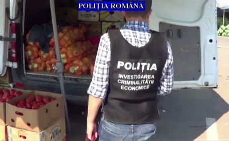Politistii au verificat o piata din Prahova, unde au confiscat 5 tone de produse, iar amenzile au depasit 84.000 lei