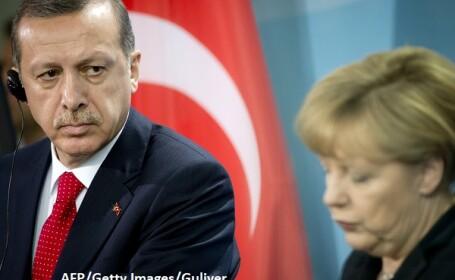 Merkel, Edogan - AFP/Getty