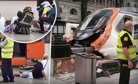 Accident feroviar in Barcelona, la intrarea in Gara Francia: 56 de raniti. Un cetatean roman se afla printre victime. VIDEO
