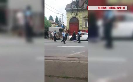Bărbații din Satu Mare care s-au luat la bătaie în plină stradă, puşi în libertate