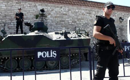 politie in Turcia in Piata Taksim