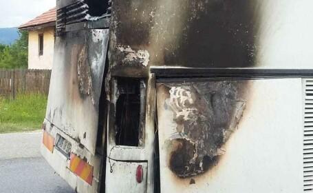 incendiu autocar
