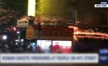 Poliția din New York caută o femeie care a atacat oamenii cu artificii