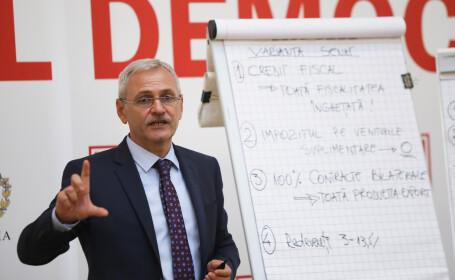 Liviu Dragnea prezinta propunerile pentru noua lege off-shore, la Palatul parlamentului