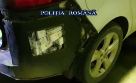 Cum au reușit doi tineri să ascundă într-o mașină 12 mii de pachete de țigări. Descoperirile polițiștilor