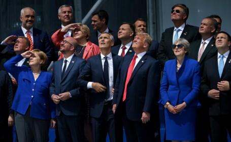 Liderii țărilor membre NATO, la ceremonia de deschidere a summitului de la Bruxelles
