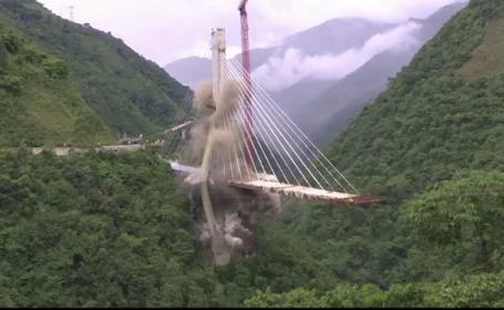 Pod din Columbia dărâmat înainte de inaugurare. Ce s-a descoperit în proiect