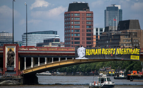Londonezii îl întâmpină pe Trump cu proteste, la vizita în Marea Britanie
