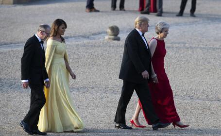 Donald și Melania Trump, în vizită în Marea Britanie