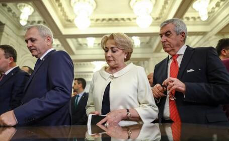 Liviu Dragnea, Viorica Dancila si Calin Popescu Tariceanu