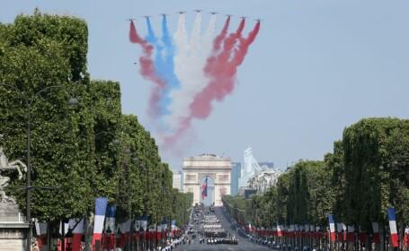 Paradă impresionantă, la Paris, de Ziua Franței