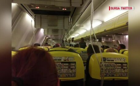 imagini din avion Ryan Air