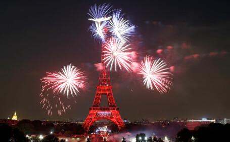 Artificii impresionante, la Paris, de Ziua Franței