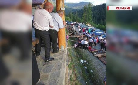 Pensiunea unde au fost rănite 18 persoane la nuntă este verificată. Nunta a continuat după incident