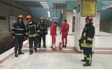 Incident la metrou. Un bărbat a pulverizat cu spray lacrimogen iritant și a fugit