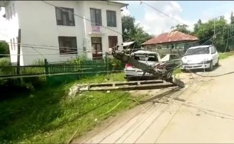Accident rutier grav, în Dâmbovița. La volan era un șofer în vârstă de 14 ani