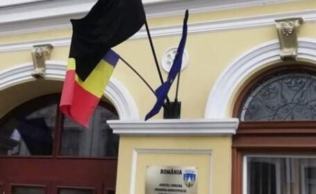 steag negru primaria sfantu gheorghe