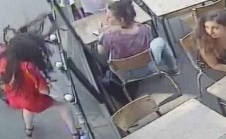 Studentă lovită cu pumnul în față de un bărbat care a hărțuit-o pe stradă. VIDEO