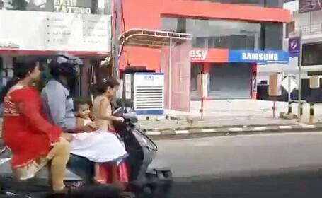 Fetiță de 5 ani, surprinsă conducând un scuter pe un drum public. Măsurile luate împotriva părinților