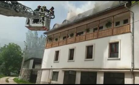 incendiu manastire